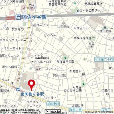 【地図】トーシンフェニックス南阿佐ヶ谷