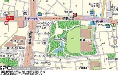 【地図】フェニックス新高円寺