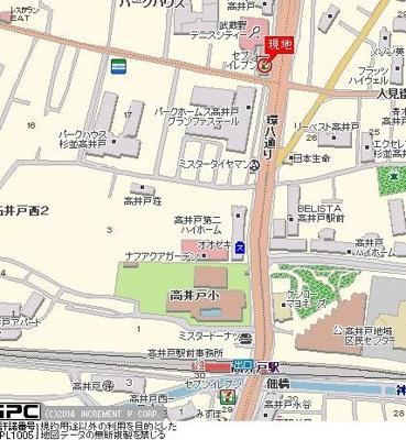 【地図】プレール高井戸
