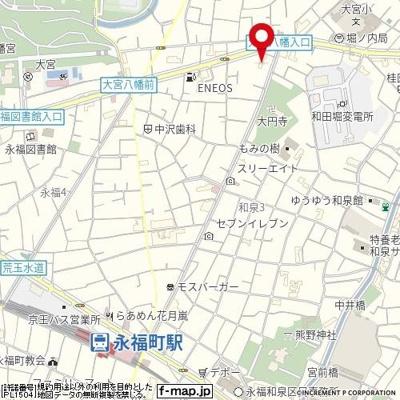 【地図】ソアール永福町