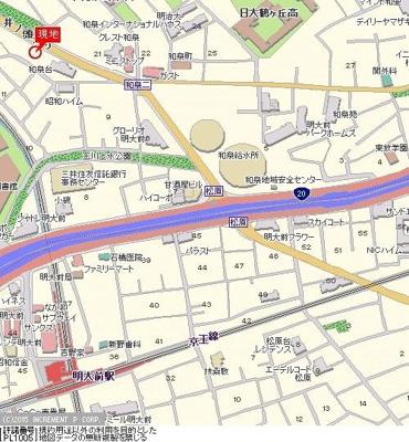 【地図】シンシア明大前