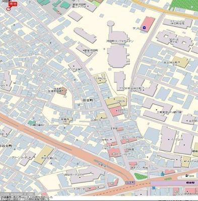 【地図】ADX新宿河田町