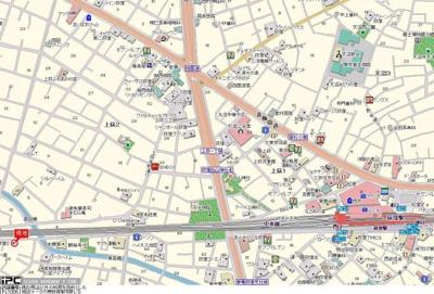 【地図】スカイコート荻窪Ⅱ