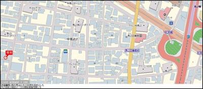 【地図】ルーブル中馬込 壱番館