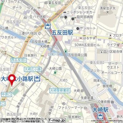 【地図】パークウェル五反田