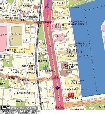 【地図】大森タウンビル