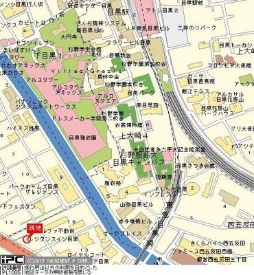 【地図】ロイヤルパレス目黒