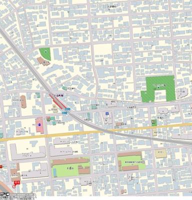 【地図】ロイヤルガーデン千鳥町