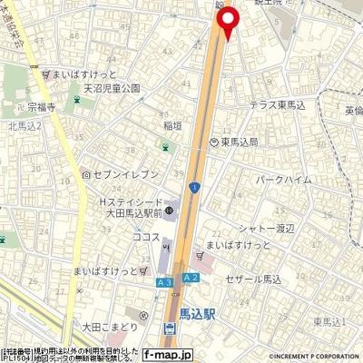 【地図】プレスタイル アイディ馬込