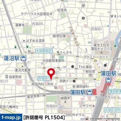 【地図】ルーブル蒲田伍番館