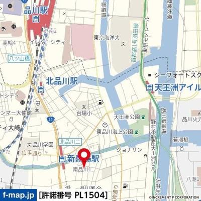 【地図】スカイガーデン南品川