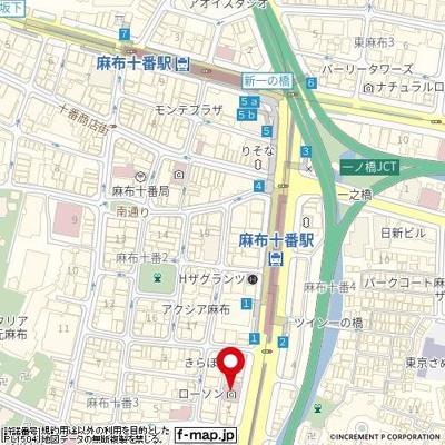 【地図】GSハイム麻布十番東山
