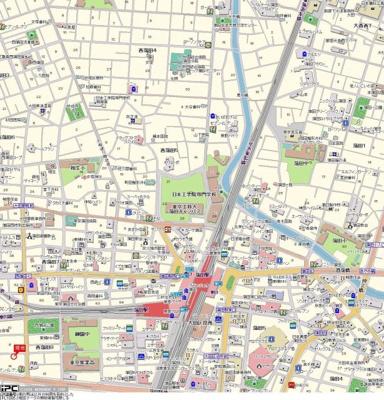 【地図】ハイタウン西蒲田