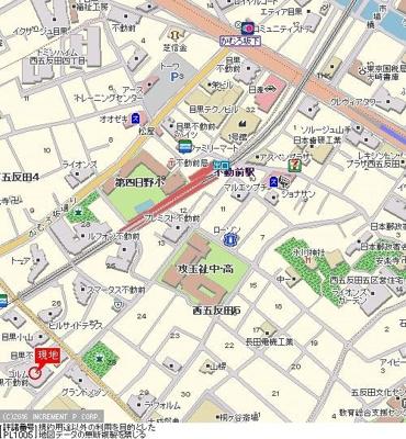 【地図】コルム目黒不動前