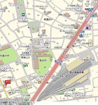 【地図】ワコーレ西馬込