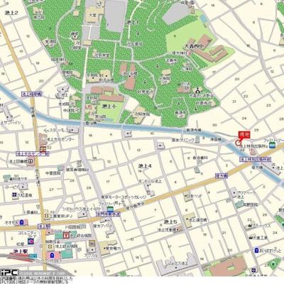 【地図】ミリオンコート池上
