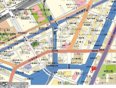 【地図】アーバイルスパシエ芝浦BAY-SIDE