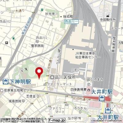 【地図】ルーブル大井町