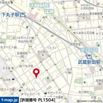 【地図】ラブレ下丸子