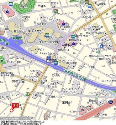 【地図】ライオンズマンション用賀