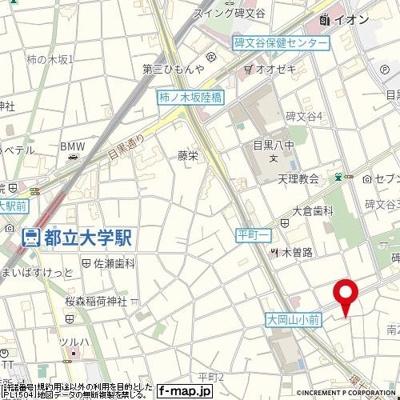 【地図】フラット南町