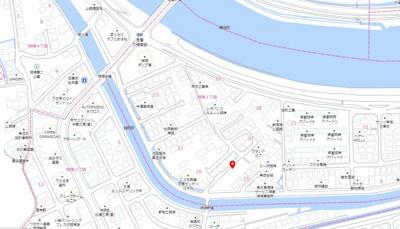 【地図】明神3丁目 新築戸建