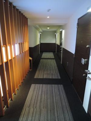 内ホテルライクな内廊下です。