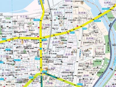 【地図】エステムコート梅田・天神橋リバーフロント