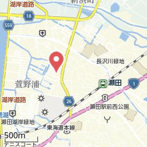 【地図】オーブ瀬田