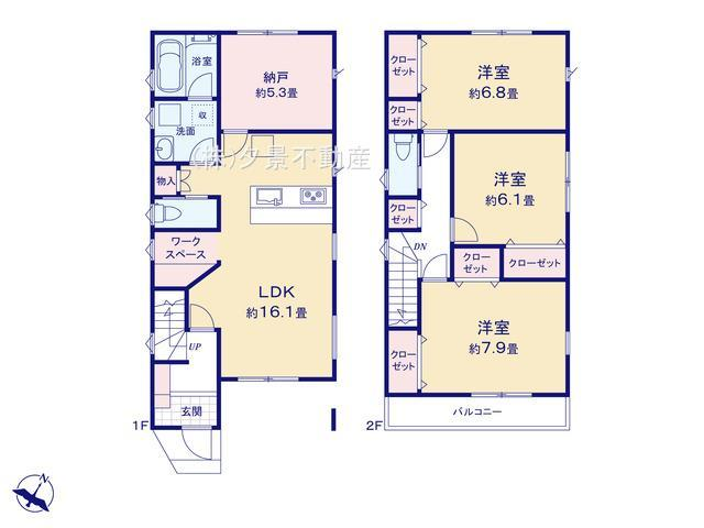 【区画図】見沼区大和田町1丁目1230-23(1号棟)新築一戸建てグランパティオ