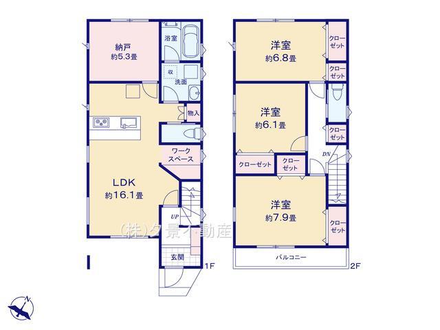 【区画図】見沼区大和田町1丁目1230-23(2号棟)新築一戸建てグランパティオ