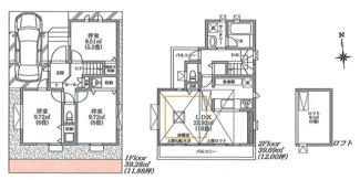A号棟:2面バルコニー・豊富な収納のお住まいです。