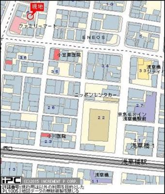 【地図】シーアイマンション浅草橋