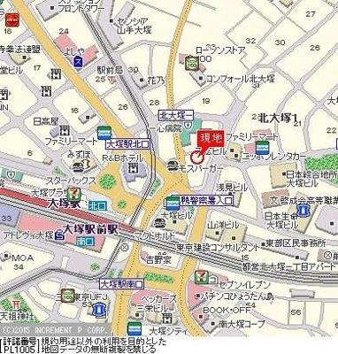 【地図】フェニックス大塚駅前