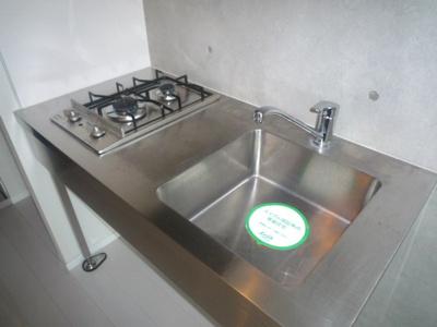ガスコンロ付のキッチンです。