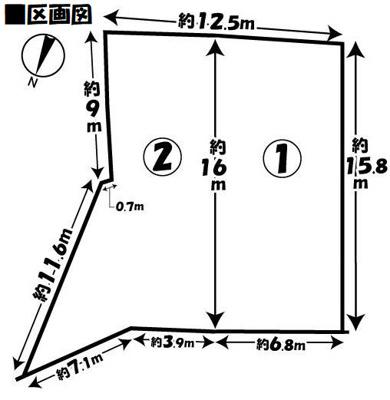 【区画図】京都市左京区修学院水川原町