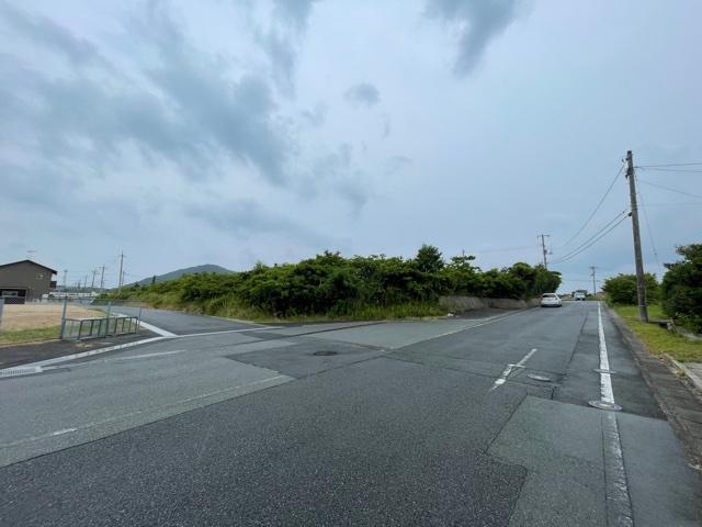 【前面道路含む現地写真】宇部市大字東岐波 大型事業用地