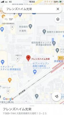 【地図】フレンズハイム光栄 (株)Roots