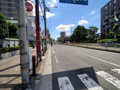 周辺道路です。 駅近で大変便利な立地です。