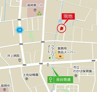 【地図】土佐市高岡町丙3棟