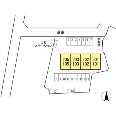 【区画図】リッチ椿