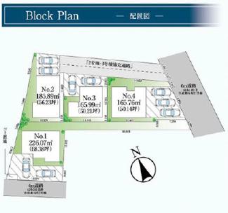 【区画図】千葉市稲毛区萩台町 新築分譲住宅3号棟
