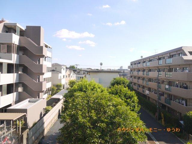 前面は平成9年3月築の都営錦1丁目第3アパートの緑地です。