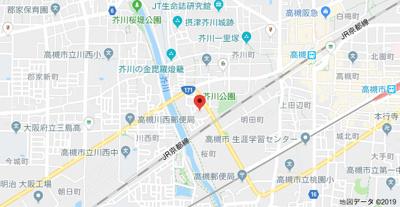 【地図】平野ハイツA棟