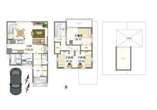 ・弊社標準建物価格 24坪:1690万(別途外構費100万)     ・参考プラン延床面積:81.19㎡