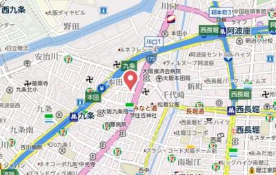 【地図】プレミアムコートあわざWEST