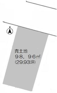 土地:29.93坪です♪現況更地です!阪神「田屋敷」駅まで徒歩6分の好立地です(^^)