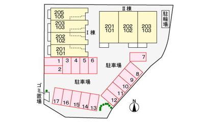 【区画図】クラール・セイバリー Ⅱ