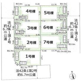 【区画図】東大阪市日下町1丁目 2期3号棟 新築戸建