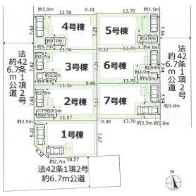 【区画図】東大阪市日下町1丁目 2期4号棟 新築戸建